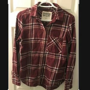 Garage plaid oversized shirt